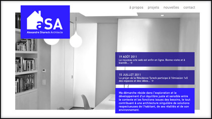 Alexandre Shareck Architecte - Website - artefact 1